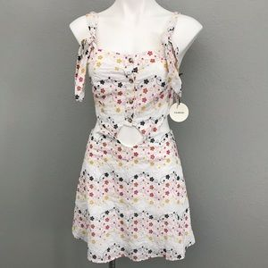 NWT Tularosa embroidered cut out eyelet dress